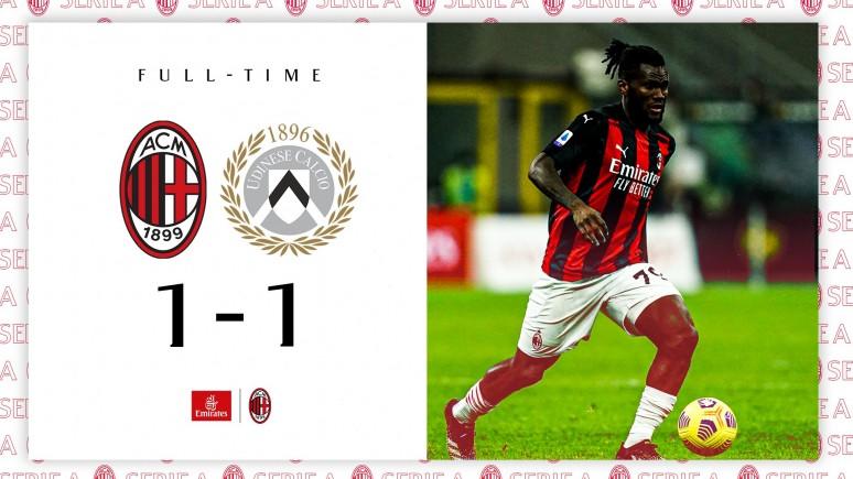 Zasieki Zebrette sforsowane w ostatniej minucie - Milan 1:1 Udinese