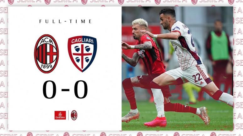 Awans do Ligi Mistrzów na kolejkę przed końcem? Rossoneri grają do końca - Milan 0:0 Cagliari